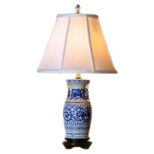 """Vase 22"""" H Table Lamp With Empire Shade"""