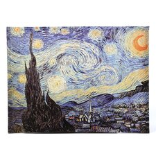 'Starry Night' by Vincent Van Gogh Painting Print on Wrapped Canvas
