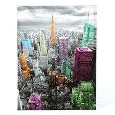 Highlights of New York Skyline Graphic Art on Canvas