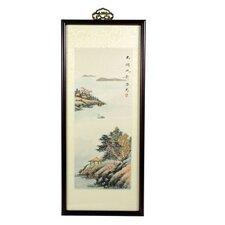 Zen Retreat Oriental Watercolor Framed Original Painting