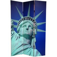 """72"""" x 48"""" Double Sided Liberty 3 Panel Room Divider"""