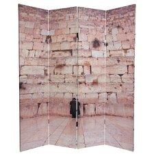 """70.88"""" x 63"""" Wailing Wall 4 Panel Room Divider"""