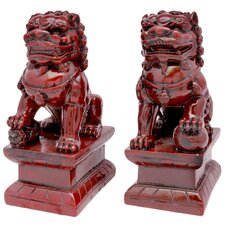 2 Piece Fu Dog Figurine Set