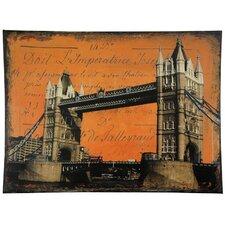 London Bridge Graphic Art on Wrapped Canvas