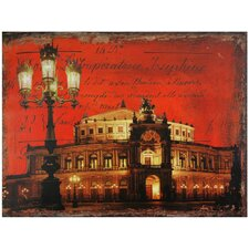 German Opera House Graphic Art on Wrapped Canvas