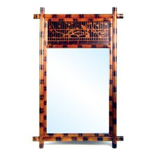 Hand Painted Bamboo Wall Mirror