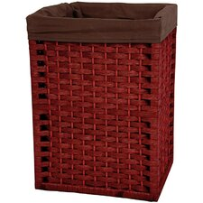 "17"" Natural Fiber Basket in Mahogany"