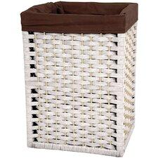 "17"" Natural Fiber Basket in White"