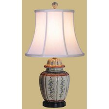 """French Porcelain Jar 18"""" H Table Lamp with Bell Shade"""