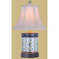 """18"""" French Porcelain Cover Jar Lamp"""