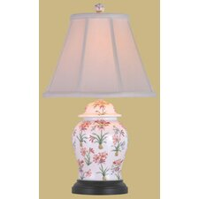 """Porcelain Floral Jar 22"""" H Table Lamp with Empire Shade"""