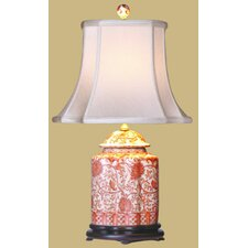 """Porcelain Scallops Jar 22"""" H Table Lamp with Bell Shade"""