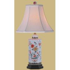 Hexagonal Porcelain Jar Table Lamp