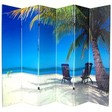 """70.88"""" x 94"""" Double Sided Ocean 6 Panel Room Divider"""