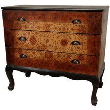 Olde-Worlde Euro 3 Drawer Console Table