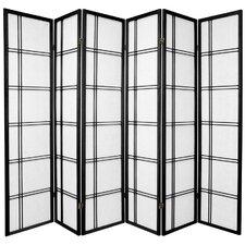 "70"" x 84"" Double Cross Shoji 6 Panel Room Divider"