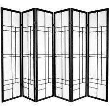 "70.25"" x 84"" Eudes Shoji 6 Panel Room Divider"