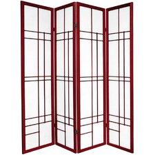 "70.25"" x 56"" Eudes Shoji 4 Panel Room Divider"