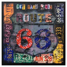 Route 66 Framed Textual Art