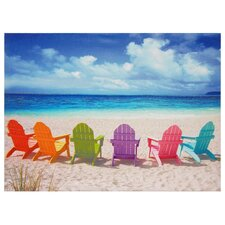 Beach Chairs Photographic Print on Wrapped Canvas