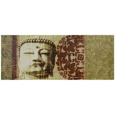 Buddha Bust Graphic Art on Wrapped Canvas