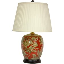 """Floral Bouquet Jar 21"""" H Table Lamp with Empire Shade"""