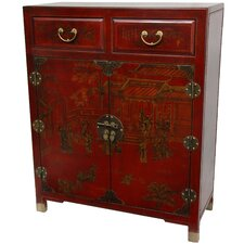Lacquer 2 Drawer Chest