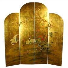 """72"""" x 64"""" Cranes Decorative 4 Panel Room Divider"""
