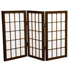 "26"" x 30"" Window Pane Shoji 3 Panel Room Divider"