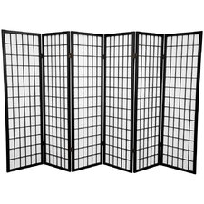 "60"" x 84"" Window Pane Shoji 6 Panel Room Divider"