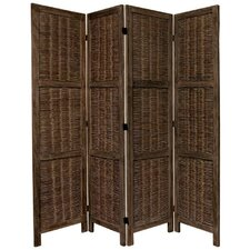 """67"""" x 57"""" Bamboo Tree Matchstick Woven 4 Panel Room Divider"""