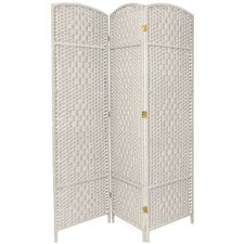 Diamond Weave 3 Panel Room Divider