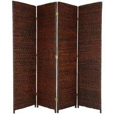 "71"" Tall Rush Grass Woven 4 Panel Room Divider"