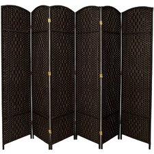"82.75"" x 118.5"" Diamond Weave 6 Panel Room Divider"