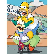The Simpsons Homer and Krusty Graphic Art on Canvas