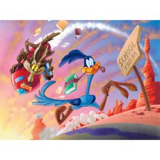 Road Runner and Wile E. Coyote Graphic Art on Canvas