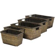 Rattan Space Saver Basket (Set of 5)