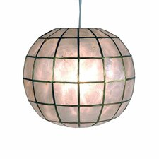 Princess Capiz 1 Light Hanging Pendant