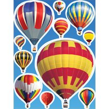 Hot Air Balloons Window Cling (Set of 4)
