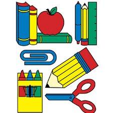 School Tools Window Cling (Set of 4)