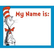 Cat in The Hat Name Tag (Set of 3)