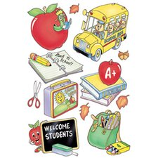 Welcome Students Window Cling (Set of 4)
