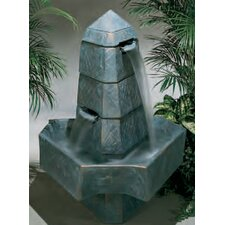 Centerpiece Cast Stone Abstract Obelisk Fountain