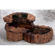Nature Cast Stone Pebble Spill Fountain