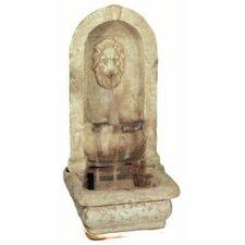 Lion Alcove Cast Stone Cascade Fountain