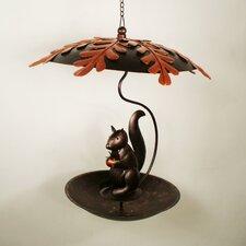 Squirrel Flat Bottom Decorative Bird Feeder