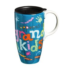 Sassy Sentiments 17 oz. Happiness is Grandkids Travel Latte Cup