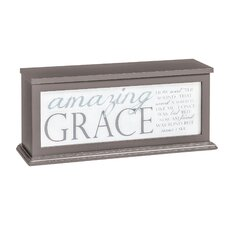 "Amazing Grace Illuminated 6"" Table Lamp with Rectangular Shade"