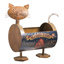 Rusted and Repurposed Can Cat Planter
