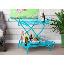 Powder Coat Indoor / Outdoor Metal Serving Cart